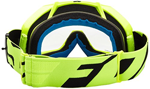 Fox Racing Air Defence Race Adult MX Motorcycle Goggles Eyewear - Yellow/Clear/No Size