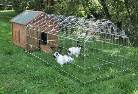 horizont Galvanised Steel Outdoor Poultry Chicken /& Pet Animal Pen Enclosure Run Delivered Flat-Packed 220cm x 103cm x 103cm
