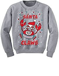 TeeStars - Santa Claws Ugly Christmas Sweater Xmas Lobster Youth Kids Sweatshirt