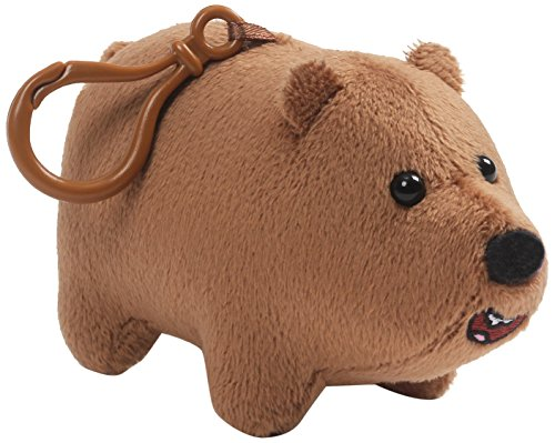 GUND Cartoon Network We Bare Bears Grizz Backpack Clip, Brown, 2.5