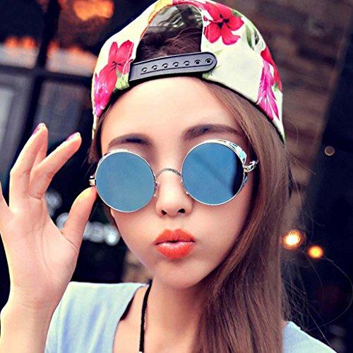 Mujer Fashion Gdr de Redondo Logres Gafas Gafas Moda Punk polarizadas Vintage Eyewear Hombre de Mirrored sol sol Steampunk 1qTFOTwx5n