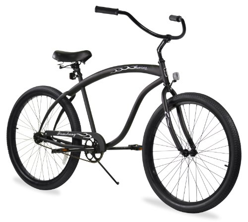 Black Beach Cruiser (Firmstrong Bruiser Man Single Speed Beach Cruiser Bicycle, 26-Inch, Matte Black)