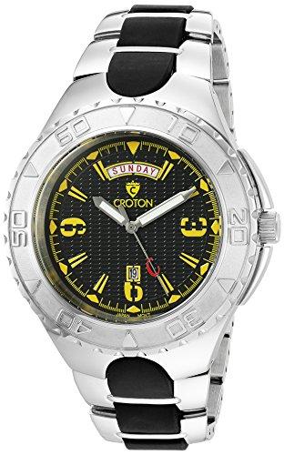 (CROTON Men's CA301287SSYL SUPER Analog Display Quartz Two Tone Watch)