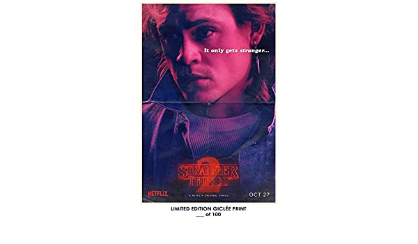 Amazon.com: RARE POSTER thick billy STRANGER THINGS 2 dacre montgomery tv REPRINT #d/100!! 12x18: Posters & Prints