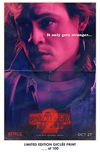 Rare Poster thick billy Stranger Things 2 dacre montgomery tv Reprint #'d/100!