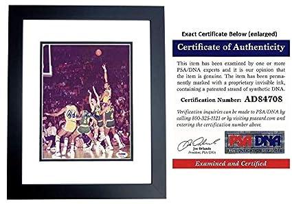 Kareem Abduljabbar Autographed Signed Los Angeles Lakers Vintage 8x10 Photo  Inch Photo Black Custom Frame 6X cafabc3f9