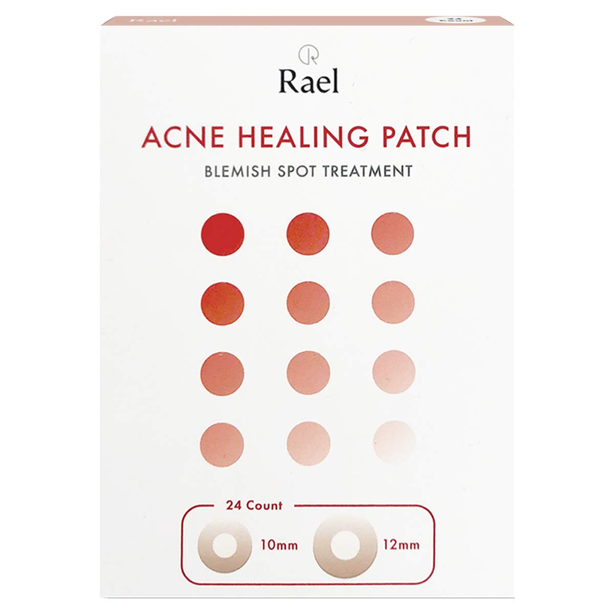Rael Hydrocolloid Acne Pimple Healing Patch 1 Pack(Invisible, 24 count)