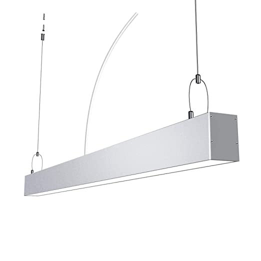 quality design 7feeb a96bc 4ft Dimmable 40W LED Linear Light, 110V-277V 4600lm 5000K Linkable  Suspension Linear Bay Light, Contemporary Design Style Lighting Fixture for  ...