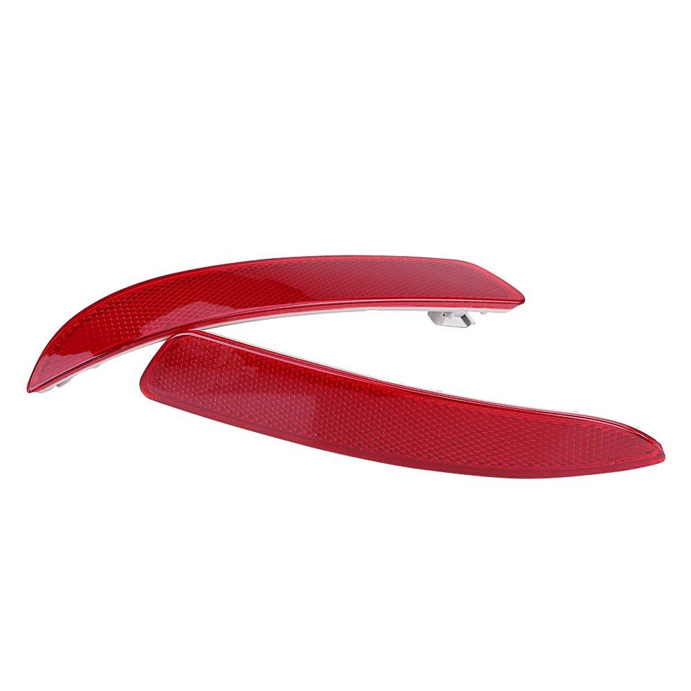 AutoSmart KL-40103RE Red Round Aluminum Reflector