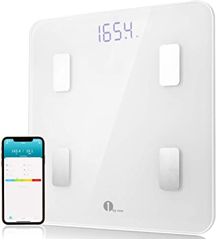Amazon.com: 1byone Smart Bluetooth Báscula de grasa corporal ...