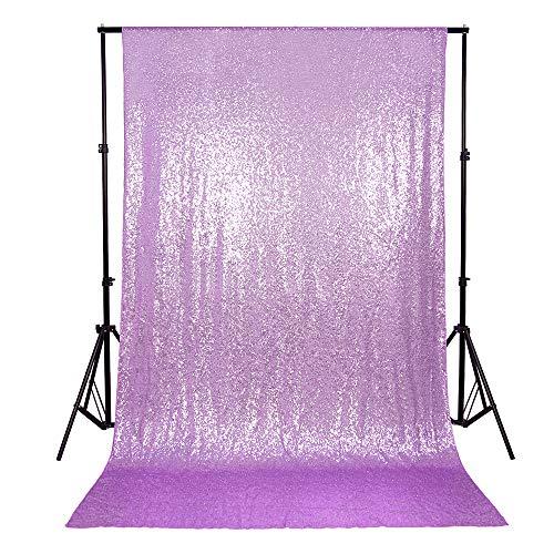 Lavender Shimmer - B-COOL Lavender 4ftx6.5ft Sequin Backdrop Glitter Backdrop Photography Backdrop Curtain Wedding Sequin Backdrops Shimmer Background