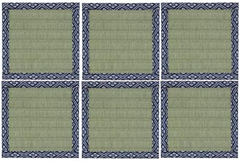 畳と暮らす グッズ 雑貨 コースター 同色6枚セット グリーンA