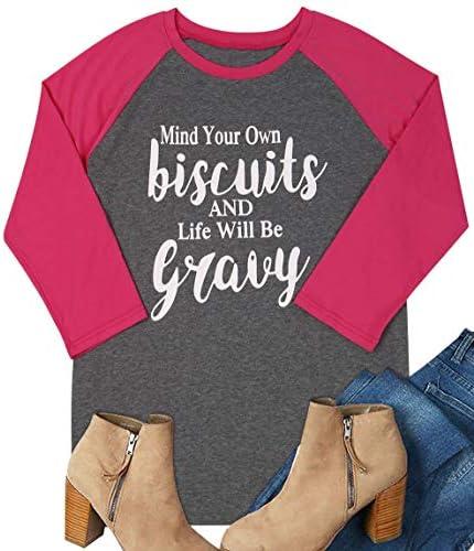 DUTUT Biscuits Shirts Womens Raglan product image