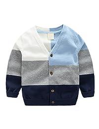 Motteecity Little Boys' Buttons V-neck Cardigan