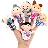 [Free Shipping] 6 Pcs Finger Puppets Plush Cloth Toy Baby Bed Stories Helper Doll // 6pcs dedo familia marionetas de tela de felpa muñeca de juguete bebé ...