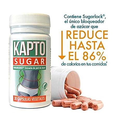 Ynsadiet Kapto Sugar, Complemento alimenticio con extracto de piel de maní, 30 Cápsulas