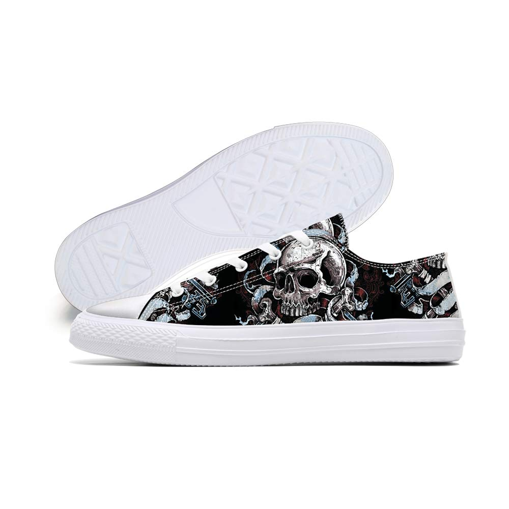 Amazon.com: Zapatillas unisex con estampado de calaveras ...