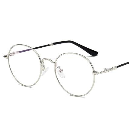 38e98f7d22 Jsfnngdv Marco de Gafas Redondas de Moda Marco de anteojos Gafas de Lentes  Transparentes Unisex Gafas