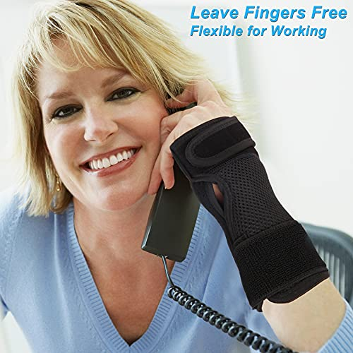 Carpal Tunnel Wrist Brace Night Support, PEIZSON Wrist Support Braces Right Hand with Splint for Tendonitis, Arthritis, Sprain, Carpal Tunnel Syndrome, Carpal Tunnel Pain Relief Brace for Men & Women