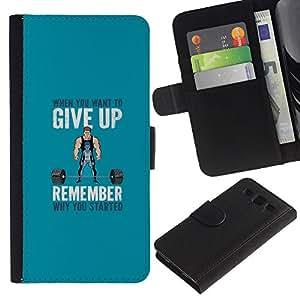 KLONGSHOP // Tirón de la caja Cartera de cuero con ranuras para tarjetas - Pesos de elevación motivación - Samsung Galaxy S3 III I9300 //