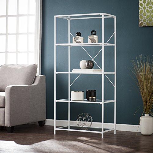 (Southern Enterprises AMZ5169ZH Prescott 5-Tier Bookshelf Bookcase, White )