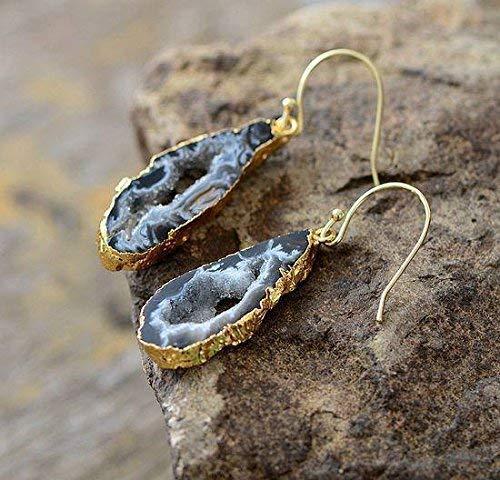 DIY Earrings Geode Supplies Pair Of Earrings Pink Purple Blue Geode Slice Natural Geode Slice Silver Plated Earrings Pairs Connectors