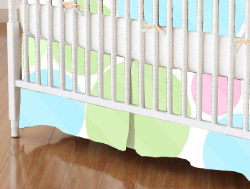 SheetWorld - Crib Skirt (28 x 52) - Pastel Colorful Dots - Made In USA