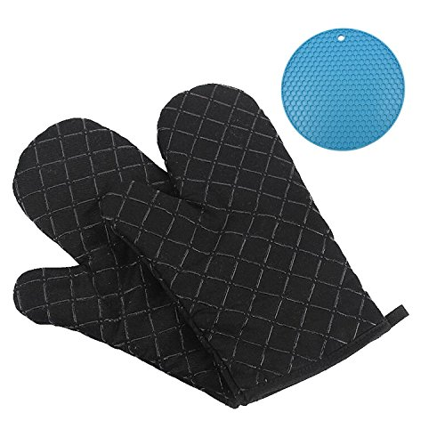 GoFriend Oven Gloves Non-Slip Kitchen Oven Mitts Heat Resistant Cooking...