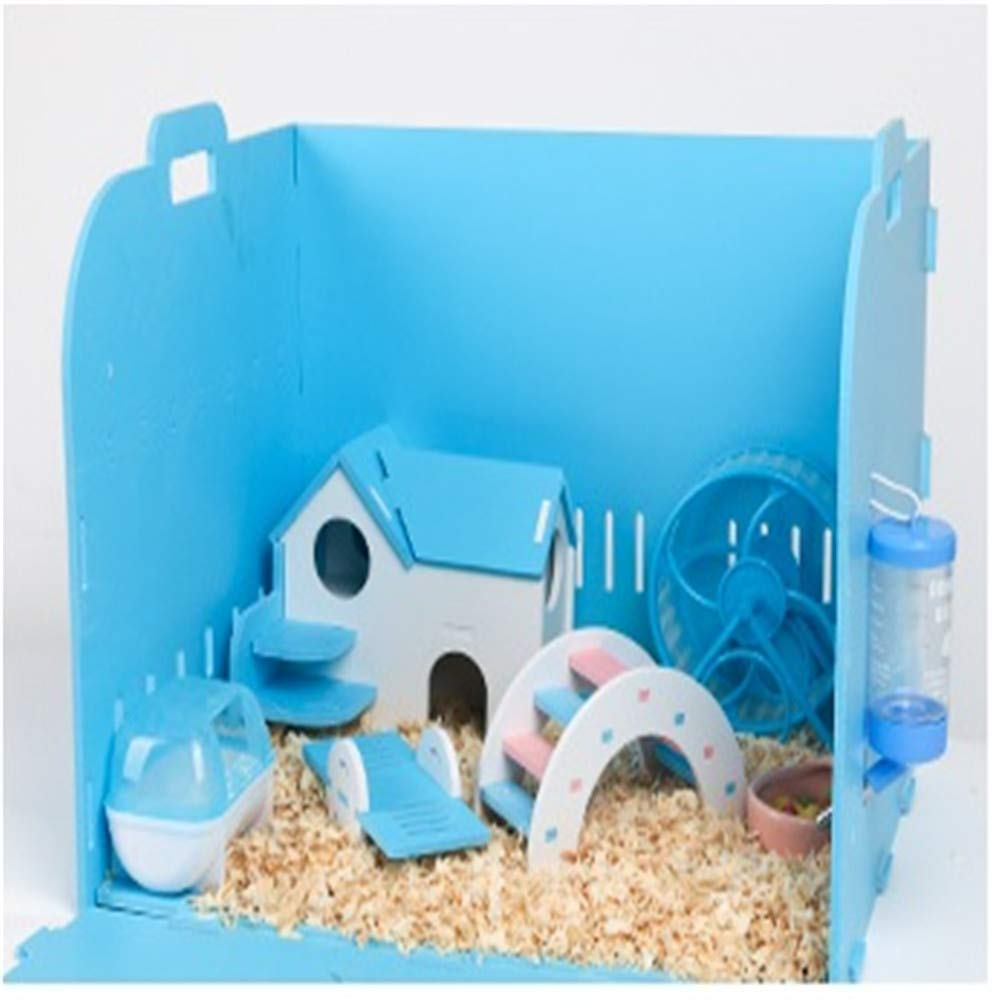 1 DRKJ Hamster Cage Supplies Foundation Cage Villa Hamster Cage Double Layer