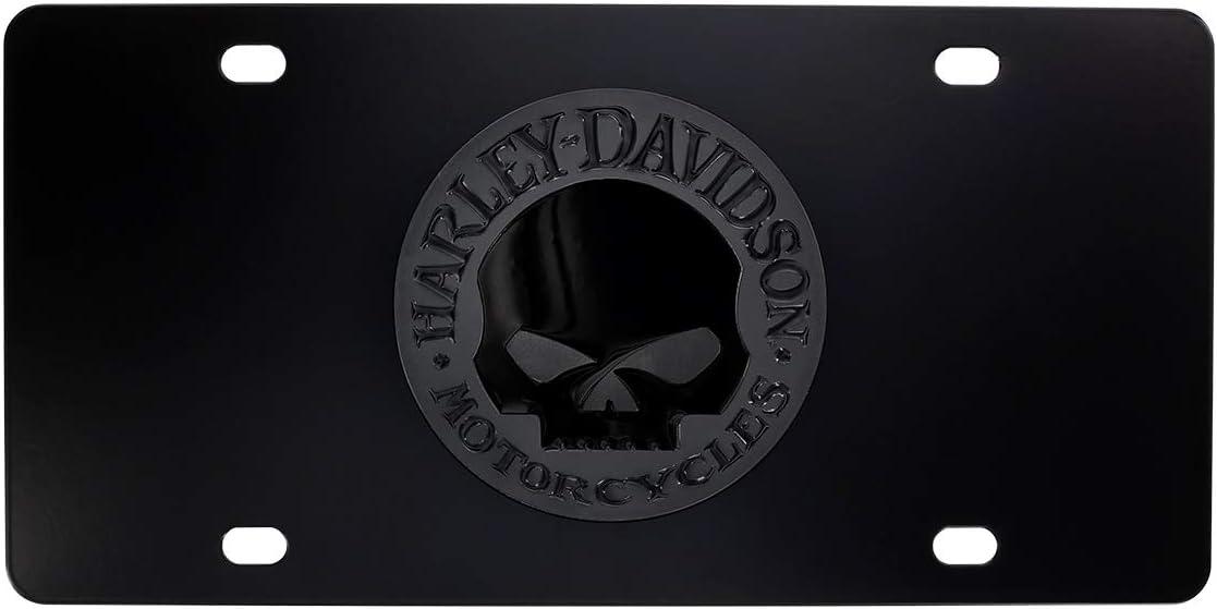 Universal Harley-Davidson Black Willie G Skull Epoxy Front Plate
