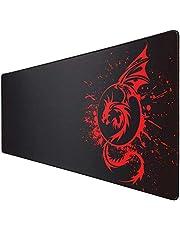 Gaming Mouse Pad, grote uitgebreide anti-slip muismat met rubberen basis en gestikte randen, glad oppervlak waterdichte snelheid gamer muismat voor gamen, Macbook, PC, laptop, bureau 31,5 x 11,8 inch (rood)