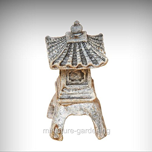 Miniature Fairy Garden One Story Micro Pagoda - My Mini Garden Dollhouse Accessories for Outdoor or House (Pagoda Garden Accent)