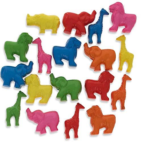 Set of 200 Elephant, Lion, Giraffe Zoo Animal Pony Beads