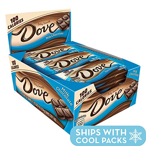 DOVE 100 Calories Milk Chocolate Candy Bar 0.65-Ounce Bar 18-Count Box]()