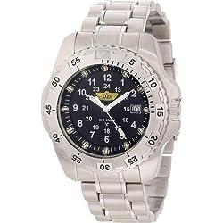 Uzi Men's Uzi-032-SS The Defender Tritium H3 Silver Stainless Steel Strap Watch