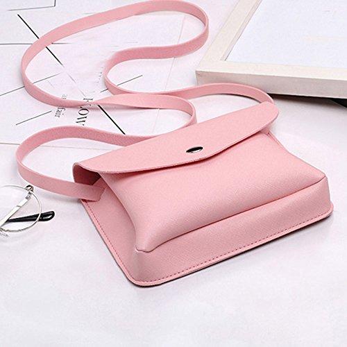 ZOMUSA Fashion Leather Messenger Women Pink Handbag Bag Clearance Shoulder Mini Crossbody dTfqdH