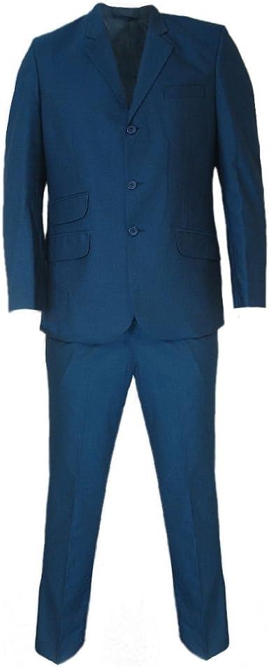 Relco Mens Tonic Blue Black Retro Mod Suits Amazon Co Uk Clothing