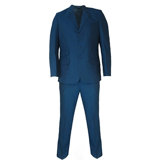 1960s Mens Suits | 70s Mens Disco Suits Relco Mens Tonic Blue/Black Retro Mod Suits £149.99 AT vintagedancer.com