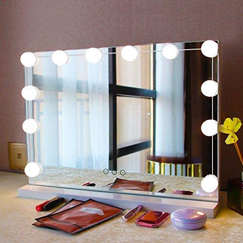 solmore mirror lights led vanity mirror lights kit hollywood style flexible 12 ebay. Black Bedroom Furniture Sets. Home Design Ideas