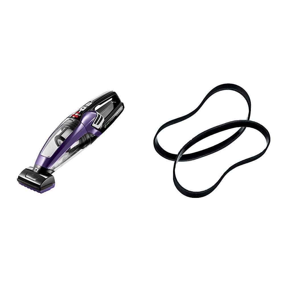 BISSELL Pet Hair Eraser Lithium Ion Cordless Hand Vacuum, Purple &  Style 7/9/10 Replacement Belts, 2-pack