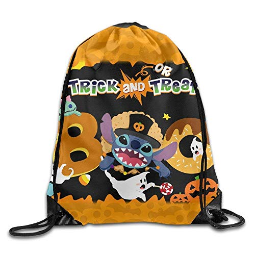 Lilo Stitch Halloween Unisex Gym Bag Drawstring Backpack/Rucksack -