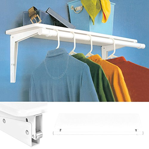 Wall Mount Folding Storage Shelf Utility Rack Holder Home Organizer Hanger New