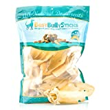 Best Bully Sticks Prime Thick-Cut Cow Ear Dog Chews by (12 Pack) Sourced From All Natural, Free Range Grass Fed Cattle with No Hormones, Additives or Chemicals - Hand-Inspected and USDA/FDA Approved