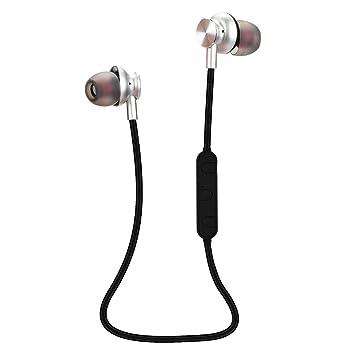 Frimuoy Bluetooth 4.1 Auriculares inalámbricos estéreo Auriculares Deportivos con micrófono Earphone Plata: Amazon.es: Electrónica