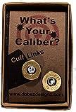 45 Colt Cuff Links Brass Finish with Swarovski Crystals (Winchester)