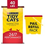 Purina Tidy Cats Clumping Cat Litter, 24/7 Performance Multi Cat Litter - 40 lb. Bag