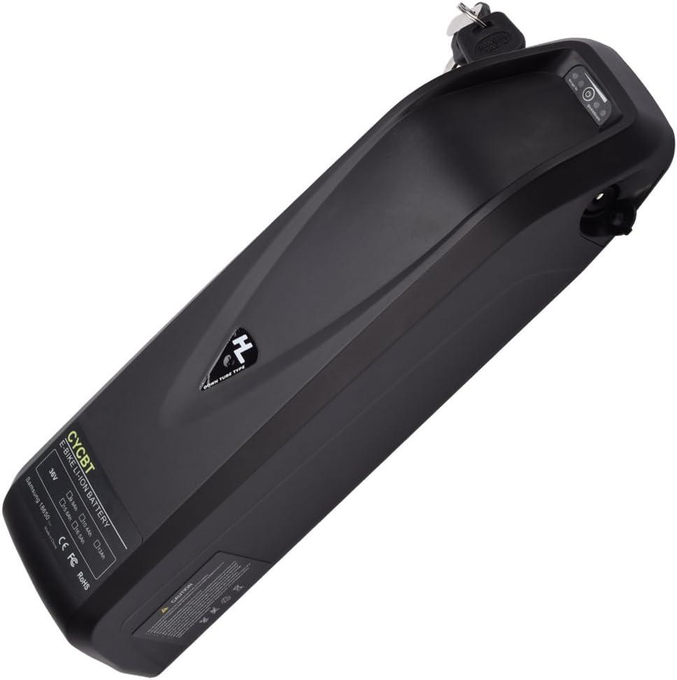 CYCBT E バイク用バッテリー 48V-10.4AH リチウムイオン E-バイク用バッテリーパック 電動自転車バッテリー チャージャー付き マウンテンバイクのダウンチューブに適合 CE Rohs GS TÜV
