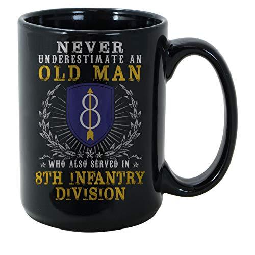 (SAYOMEN 8th Infantry Division (United States) MUG 15ozFunny Coffee Mug, Feminist Mug, Unique coffee mug, Ceramic coffee mug, Gift for Men or Women, Cool Brother Gift Ideas.)