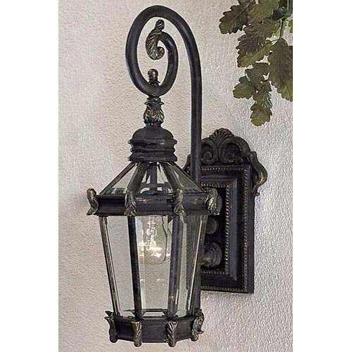 Stratford Hall Five Light (The Great Outdoors 8930-95 1 Light Wall Mount 1-100W Heritage w/Gold Highlights Stratford)