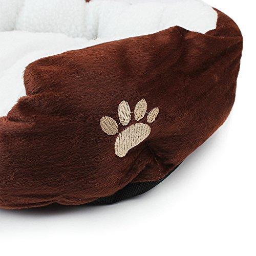 60%OFF Pet Dog Bed, Pet Soft Washable Dog Cat Pet Warm Basket Bed with Fleece Lining Rectangular Fit Most Pets Orange Size Medium